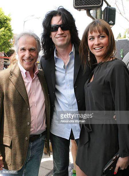 Henry Winkler Tommy Thayer and Wife Amber arrive at 'A Plumm Summer' Premiere on April 20 2008 at Mann Bruin Theater in Westwood California