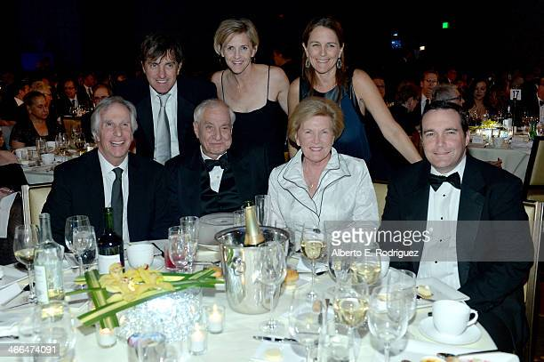 Henry Winkler with honoree Garry Marshall and his family attend the 2014 Writers Guild Awards LA Ceremony at JW Marriott at LA Live on February 1...