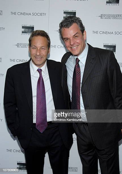 Henry Winterstern and Danny Huston at the Cinema Society Premiere of First Look Pictures' The Proposition