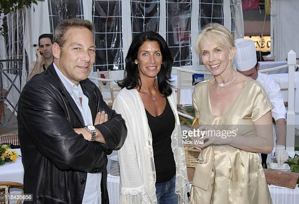 """Henry Winterstern and wife with Trudie Styler during 2006 Cannes Film Festival - """"A Guide To Recognizing Your Saints"""" Dinner in Cannes, France."""