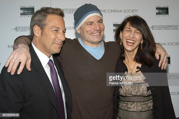 Henry Winterstern, Dito Montiel and Ruth Vitale attend THE CINEMA SOCIETY presents the NY Premiere of First Look Pictures' THE PROPOSITION at Soho...