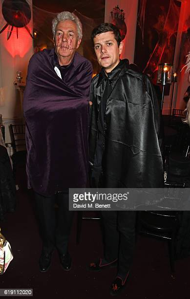 Henry Wyndham and Alexander SpencerChurchill attend Halloween at Annabel's at 46 Berkeley Square on October 29 2016 in London England