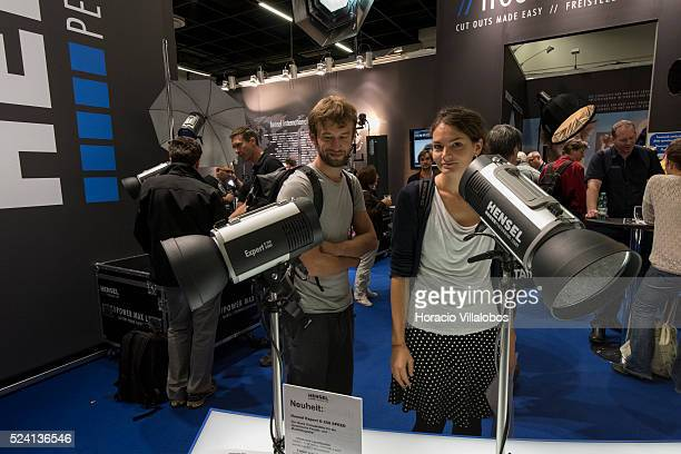 Hensel stand in Photokina 2014 in Cologne Germany 18 September 2014 Photokina the world's leading imaging fair brings together the industry trade...