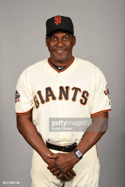 Hensley Meulens of the San Francisco Giants poses during Photo Day on Tuesday February 20 2018 at Scottsdale Stadium in Scottsdale Arizona