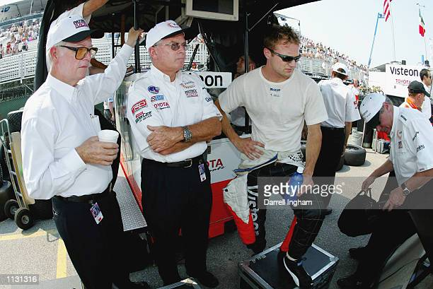 He'Pat' Patrick Jim McGee and Townsend Bell during practice for the Molson Indy Toronto round 8 of the CART FedEx Championship Series on July 6 2002...