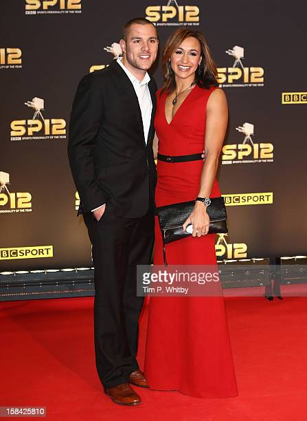 Heptathlete Jessica Ennis and Andy Hill attend the BBC Sports Personality of the Year Awards at ExCeL on December 16, 2012 in London, England.