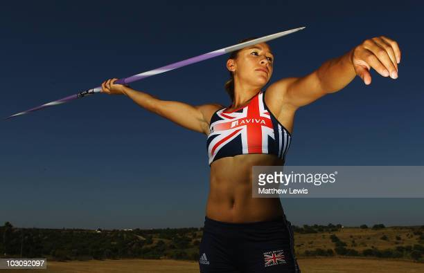 Heptathlete Jessica Ennis of Great Britain poses during the Aviva funded GB NI Team Preparation Camp on July 19 2010 in Monte Gordo Portugal