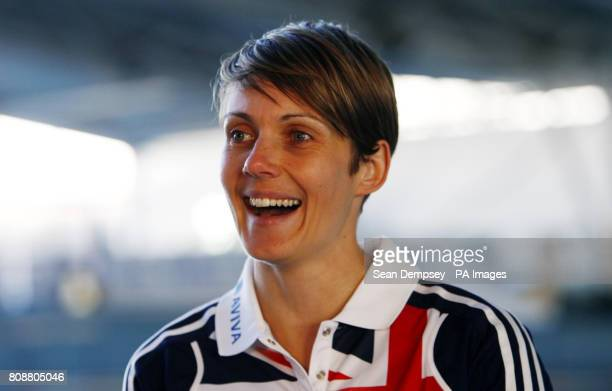 Heptathlete Kelly Sotherton during the Alfa Romeo MiTo Sprint Special Edition Launch at Lee Valley Athletics Centre London