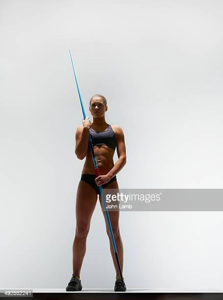 Heptathlete with javelin