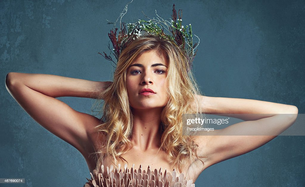 Her beauty is her crowning glory : Stock Photo