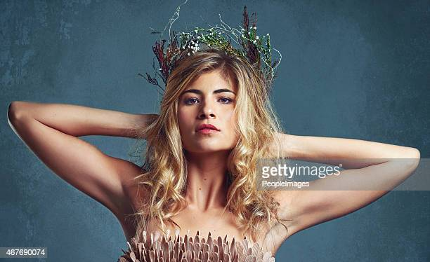 her beauty is her crowning glory - goddess stock pictures, royalty-free photos & images