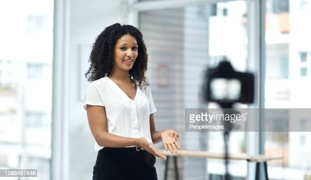 her business is her subscribers business - presenter stock pictures, royalty-free photos & images