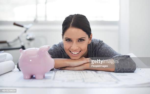 自分の会社、貯蓄が成長