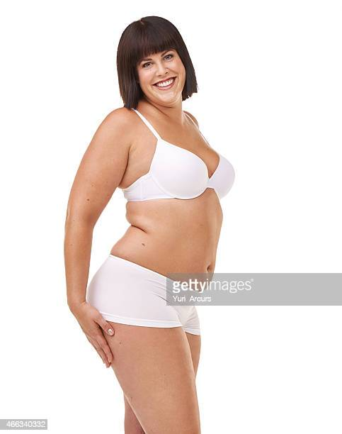 her confidence is all natural - beautiful voluptuous women stock photos and pictures