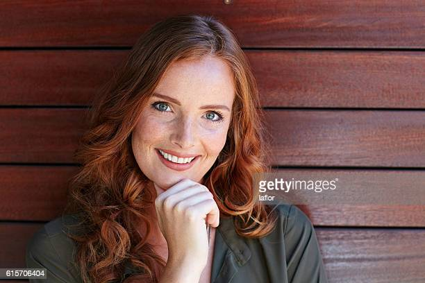 her confidence is shining through - freckle stock photos and pictures