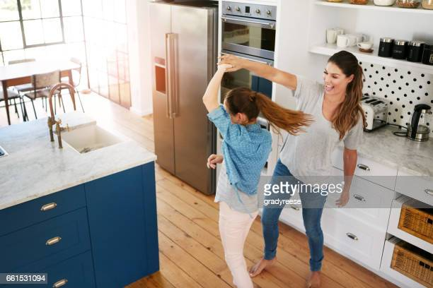 Her daughter just loves to dance
