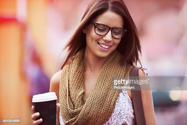 Her day isn't complete without a cup of coffee