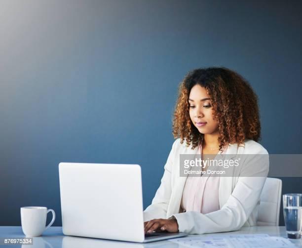 Her desk is her comfort zone