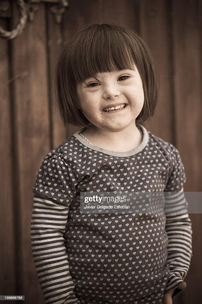 Her false smile : Stock Photo