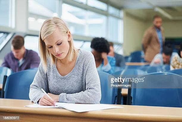 Ihre letzte Prüfung.