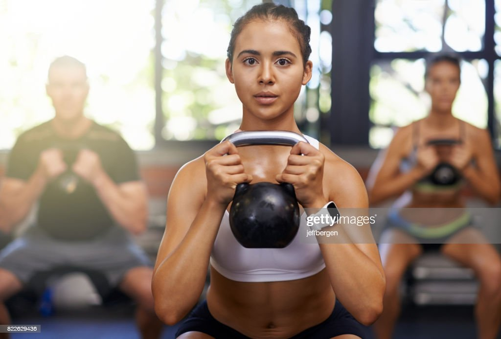 Her goal is to get you fit : Stock Photo