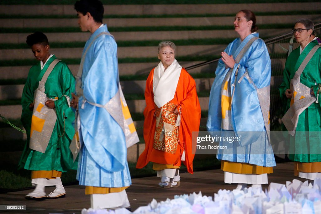 Her Holiness Shinso Ito attends Shinnyo Lantern Floating for Peace Ceremony at Lincoln Center for the Performing Arts on September 20, 2015 in New York City.