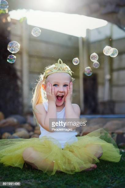 her imagination takes her to exciting places - princess stock pictures, royalty-free photos & images