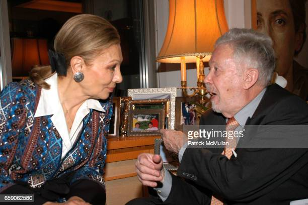 Her Majesty Empress Farah Pahlavi and Georg Gerster attend LEILA TAGHINIAMILANI HELLER GALLERY Presents GEORG GERSTER Paradise Lost Persia From Above...
