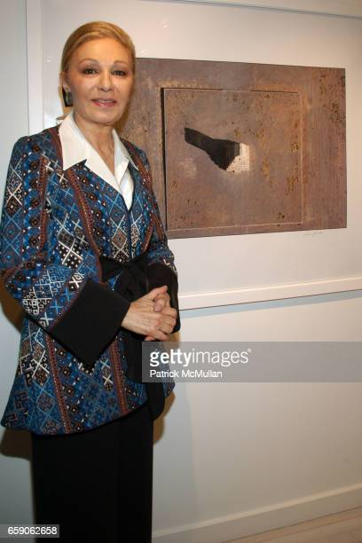 Her Majesty Empress Farah Pahlavi attends LEILA TAGHINIAMILANI HELLER GALLERY Presents GEORG GERSTER Paradise Lost Persia From Above at LTMH Gallery...