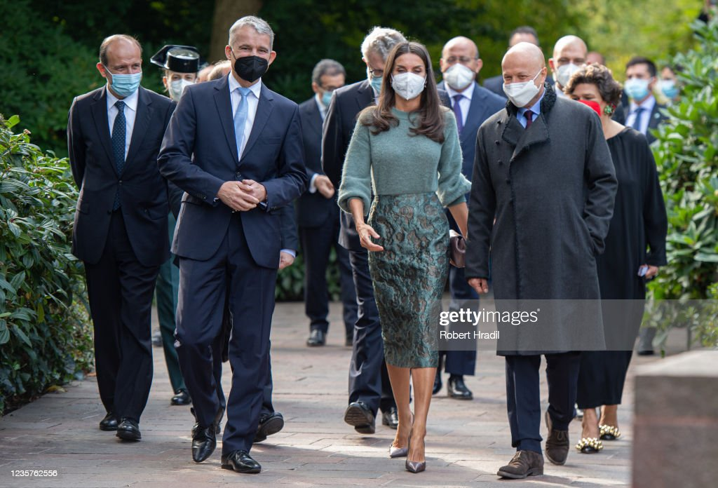 Queen Letizia of Spain Inaugurates Goya Exhibition In Basel : News Photo