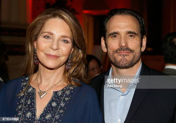 Her Majesty Queen Noor alHussein and RI Board Member and actor Matt Dillon attend the Refugees International's 38th Anniversary Dinner at Andrew W...