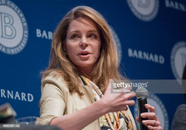 Her Majesty Queen Noor of Jordan attends Barnard College's 7th Annual Global Symposium at Barnard College on March 13 2015 in New York City