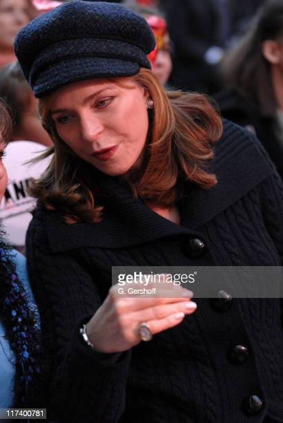 Her Majesty Queen Noor of Jordan during First Sighting of New Year's Eve Ball at Times Square in New York City New York United States