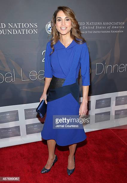 Her Majesty Queen Rania Al Abdullah attends the 2014 Global Leadership Dinner at Cipriani 42nd Street on October 22 2014 in New York City