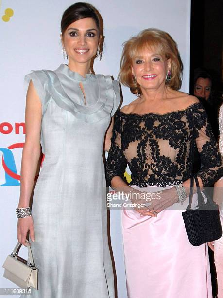 Her Majesty Queen Rania Al Abdullah Of Jordan and Barbara Walters