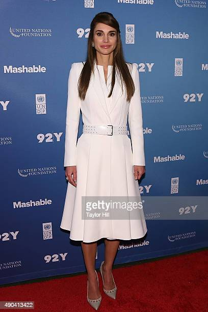 Her Majesty Queen Rania of Jordan attends the 2015 Social Good Summit at 92Y on September 27 2015 in New York City