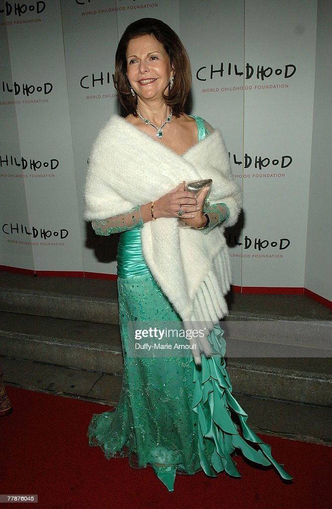 Her Majesty Queen Silvia of Sweden of Sweden attends the World Childhood Foundation USA Gala at 583 Park Avenue on November 12, 2007 in New York City.