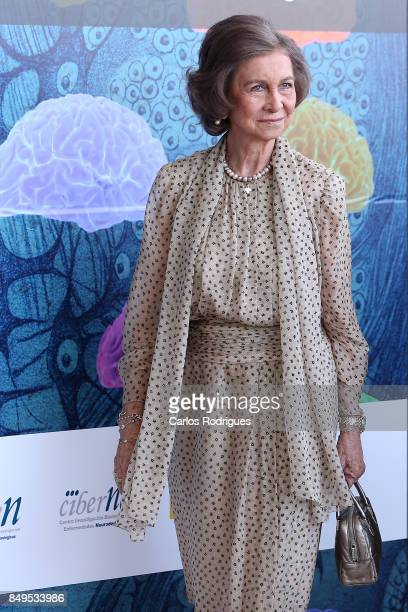 Her Majesty Queen Sofia of Spain Attends Alzheimer's Global Summit Lisbon 2017 on September 19 2017 in Lisbon Portugal