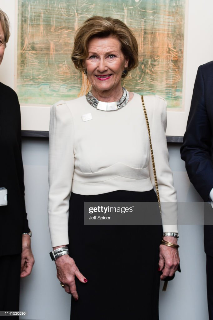 "GBR: Queen Sonja Of Norway At The Edvard Munch ""Love And Angst"" Exhibition At The British Museum"
