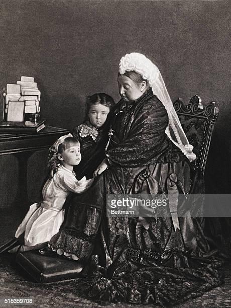 Her Majesty Queen Victoria And Her Grandchildren