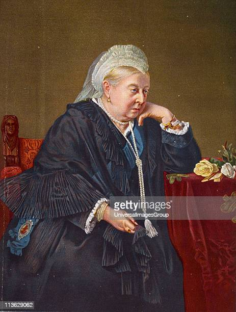Her Majesty Queen Victoria18191901 in 1899 from a painting by Baron Von Angeli From the book VRI Her Life and Empire by The Marquis of Lorne KT now...