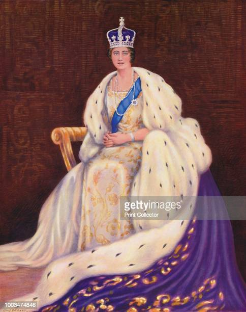 Her Majesty the Queen' 1937 From Coronation Souvenir Book 1937 edited by Gordon Beckles [Daily Express London 1937] Artist Louis Dezart
