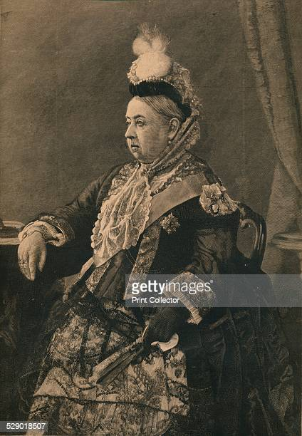 Her Majesty the Queen in the dress worn at the Jubilee Commemoration Service in Westminster Abbey 1887 Queen Victoria in the dress she wore at her...