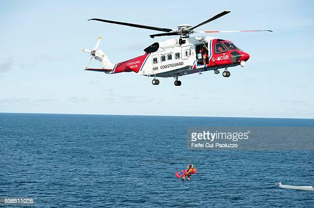 Her Majesty's Coastguard at Sea of Shetlands