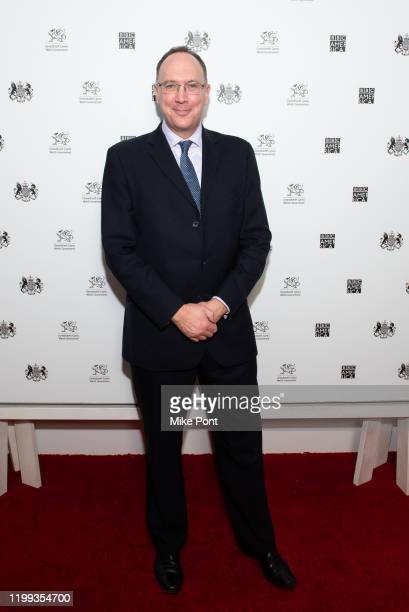 Her Majesty's Consul General in New York Trade Commissioner for North America Anthony Phillipson attends the Seven Worlds One Planet Screening at...