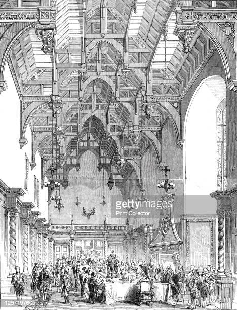 Her Majesty's visit to Burghley - the Banquet in the Great Hall, 1844. Queen Victoria and Prince Albert were the guests of the Marquis of Exeter, at...