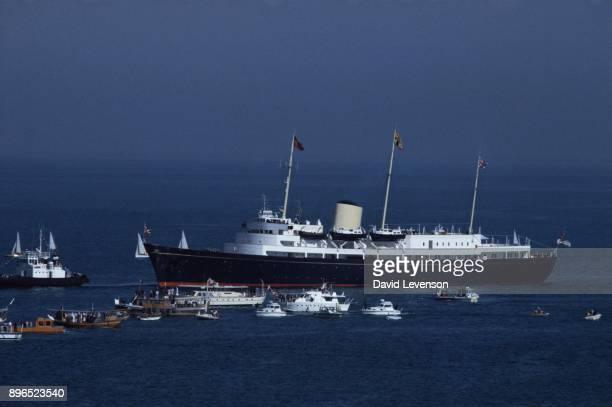 Her Majesty's Yacht Britannia also known as the Royal Yacht Britannia is the former royal yacht of the British monarch Queen Elizabeth II in service...