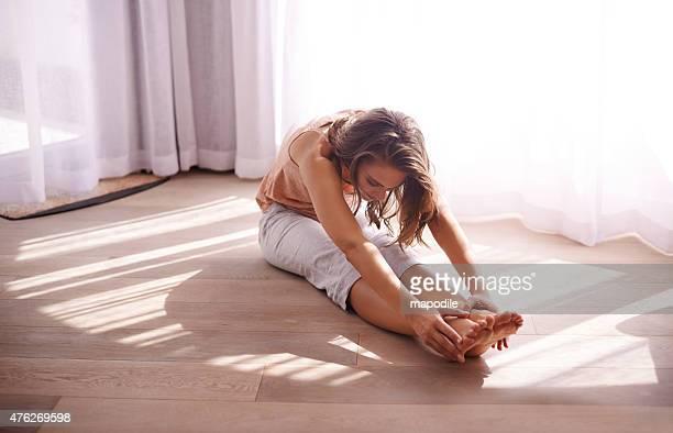 Her morning stretch