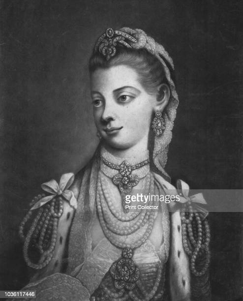 Her Most Excellent Majesty Charlotte Queen of Great Britain' 1762 Sophia Charlotte of MecklenburgStrelitz Queen consort of George III wearing ermine...