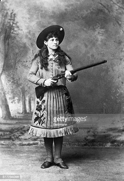 Her name has become a byword Annie Oakley who did a trick shooting act with Buffalo Bill's Wild West Show and had European royalty goggleeyed with...